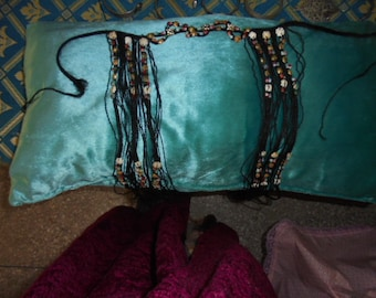 Moroccan Jewelry, Saharan/Tuareg, hard to find headdress for Guedra dance, with gems and beads