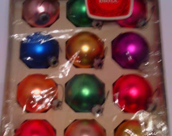 Vintage Shiny Brite Satin - Mercury Glass Christmas Tree Ball Ornaments