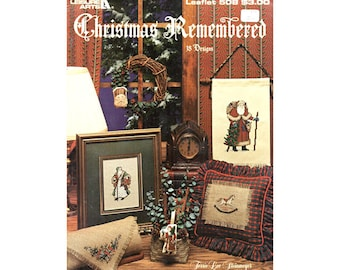 1987 Christmas Cross Stitch Leaflet, Leisure Arts Christmas Remembered, Vintage Cross Stitch, Craft Books by NewYorkTreasures on Etsy