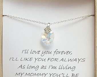 Gift for mom, mother's day gift, mother of the bride gift, mom necklace, mother of bride necklace, birthday gift for mother, mother necklace