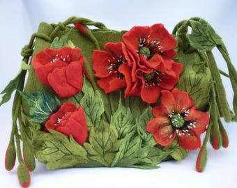 Poppy Handbags Poppies Red Bags summer tote Exclusive Birthday Gift for wife Reds Gift ideas for women Shoulder bag Unique gifts