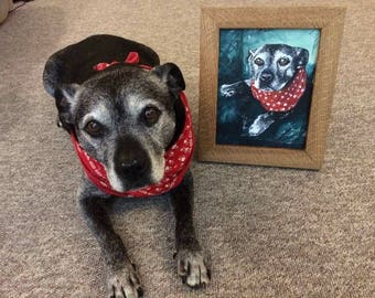 Pet portraits, original and personal gift.
