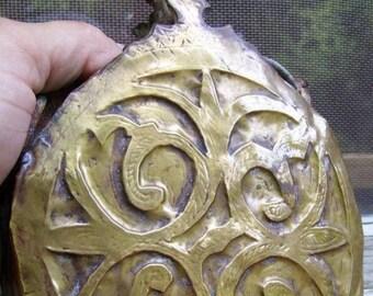 Antique Islamic Bronze Brass Flask Hanging Oil Lamp