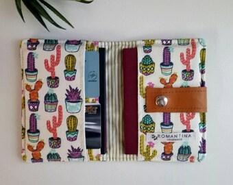 Wallet Passport 4, passport case, travel organizer, passport cover, family passport holder, travel document, travel organizer, Cactus case