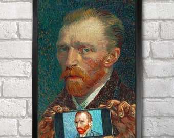 Vincent van Gogh Self-ie-Portrait print + 3 for 2 offer! size A3+  33 x 48 cm;  13 x 19 in