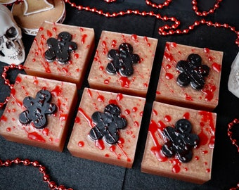 Bloody Ginger breadman Soap |Soap  | Handmade Soap | bar Soap | gothic soap | Glycerin Soap
