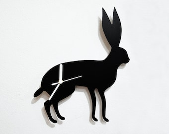 Hare Silhouette - Wall Clock