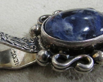 Sterling Silver and Sodalite Pendant