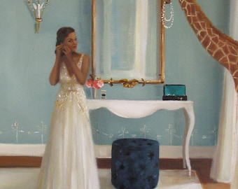 Lady In Waiting. Art Print