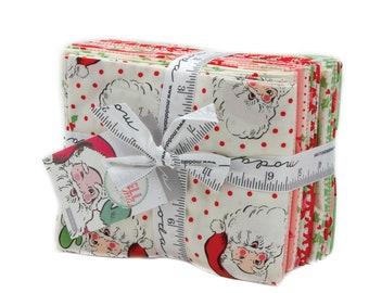 Swell Christmas Fat Quarter Bundle - Moda Fabrics - Urban Chic - Christmas Fabric -  18 Fabrics - Vintage Looking Christmas Fabric
