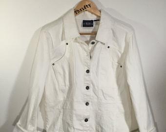 Vintage White Bill Blass Denim Jacket
