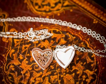 Filigree Heart Locket (Lorelie)
