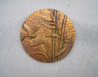 Vintage Brass Dragonfly Stamping