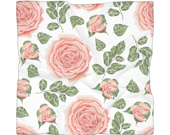 Scarf Pink Roses Floral Woman Mothers Day Teacher Gift