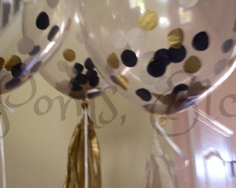 Clear Confetti Balloon-Tissue Paper - ANY COLOR you choose