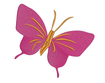 Butterfly Embroidery Design - 3 Sizes -  Instant Download