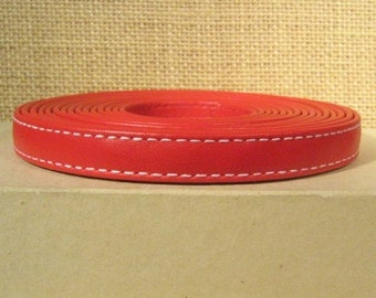 25% Off Regaliz 10mm Flat Goat Leather - Red - Choose Your Length