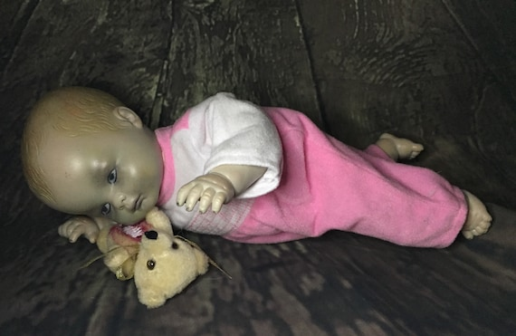 Original Undead Dressed For Bed Zombie With Dead Teddy Bear Zombie Biohazard Baby