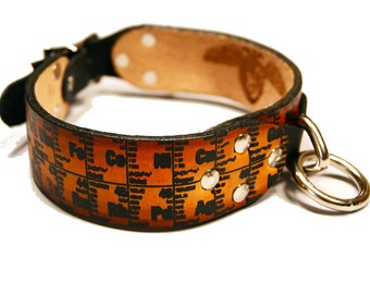 Periodic Table Dog Collar Handmade and Screen Printed