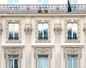 "Paris Photography, ""Blue Skies and Balconies"" Paris Print, Extra Large Wall Art Prints, Blue Paris Decor, Travel Photography"