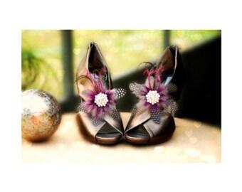 Burgundy Shoe Clips. Statement Sparkle Silver Rhinestone, Novelty Couture Bridal Bride Bridesmaid Gift Gossip Girl, Scarpe Sposa Plum Wine