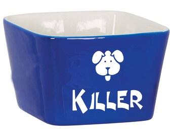 Custom Dog Bowl, Engraved Puppy Bowl, Personalized Cat Bowl, Personalized Water Bowl for Pets, Engraved Dog Bowl