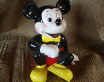 "Mickey Mouse Coin Bank, Ceramic, 9"" High, EXCELLENT"