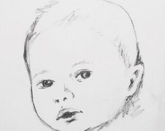 portrait sketch in pencil
