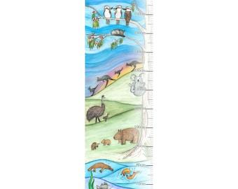 Australian Native Animal Growth Chart (Wall Decal)