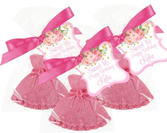 25 Sweet 16 Soap Favor -  - Dress Favors Come In Your Very Own Choice Of Colors