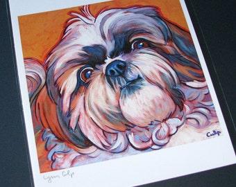 SHIH TZU Dog 8x10 Signed Art Print from Painting by Lynn Culp
