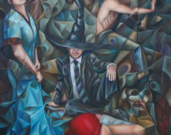 Prisoners Of Desire 2017 40x30 (original oil painting on canvas by Alex Lavrov) surrealism, expressionism, cubism