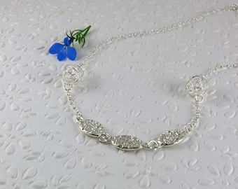 Sterling silver necklace / silver jewelry / handcrafted silver necklace / silver necklace