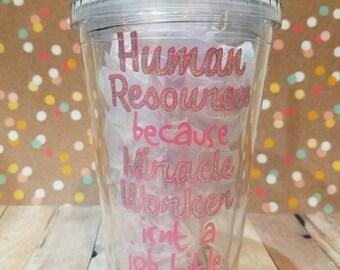 HR Gift - HR Tumbler - Human Resources