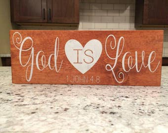 God is Love home decor board