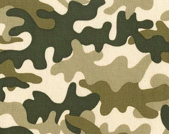 Little Camo (Creme) - Michael Miller Fabrics - 1 Yard