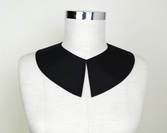 Wednesday Addams Collar , Black Detachable collar, Adams costume accessory, Hand Made collar ,Peter Pan collar , Pilgrim Costume