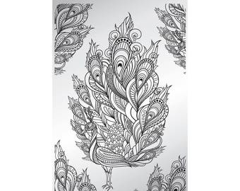 Feathertastic - stamping plate