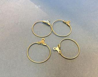 20 mini hoop earrings 20mm bronze creations of jewels