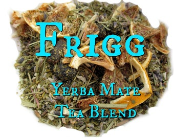Frigg Yerba Mate Tea Blend - lemongrass, lavender, vanilla, blueberries, lemon, coconut, Norse mythology, Norse goddess, Vikings