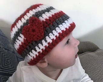 Valentines Beanie with Red Heart