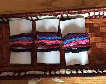 Handmade braided hair ties, made in Canada, hair ties, braided hair ties, Laska Boutique