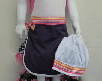 Apron Personalized Child's and chef hat set