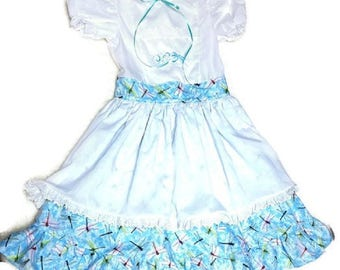 Blue Dragonfly Dress size 7