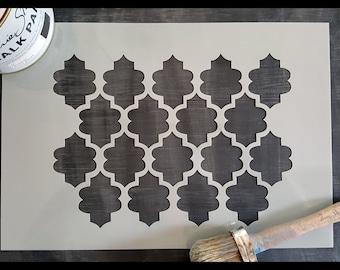 Moroccan Pattern Reusable Stencil