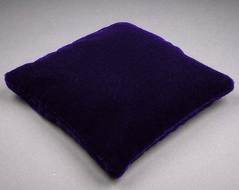 5.5 Inch Large Size Dark Purple Velvet Crystal Pillow Sphere Stand, CPV2L