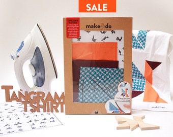 TANGRAM T-SHIRT. DIY kit TANGRAM figuren op een t-shirt maken