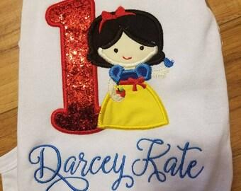Snow White Birthday shirt with name