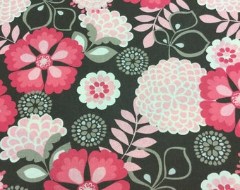 BOHO Style Fabric! Chocolate and Pink! BTY!