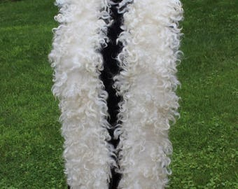 Luxurious eco fur boa